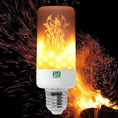 YWXLIGHT® 6 W 550-600 lm E14 E27 E12 B22 LED kukorica izzók T 99 led SMD 3528 Tompítható Láng villog Dekoratív Meleg fehér 85-265V