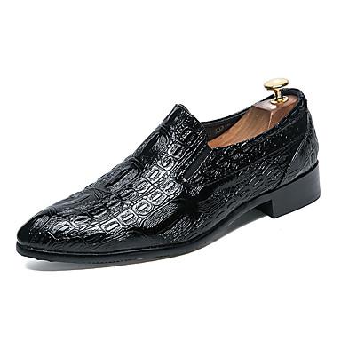 Męskie Buty Nappa Leather Skóra Wiosna Jesień Comfort Mokasyny i pantofle na Casual Impreza / bankiet Black