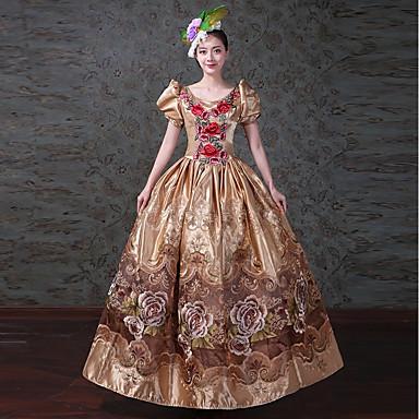 Donna Adulto Stile Vintage Vestiti Vittoriano Per Costume Rococò IUIPX