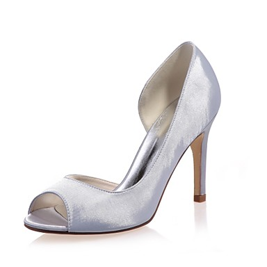a71cb473d5f Women s Shoes Satin Spring   Summer Basic Pump Wedding Shoes Stiletto Heel  Peep Toe Blue   Champagne   Ivory   Party   Evening