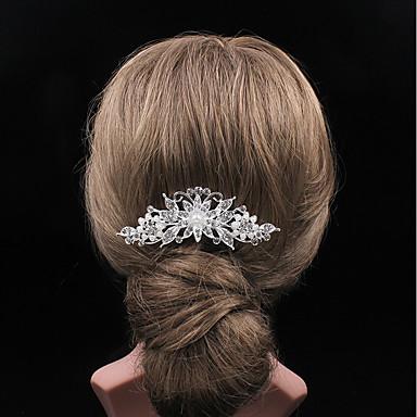 Perłowy Kryształ górski Grzebienie do włosów 1 Ślub Impreza / bal Winieta