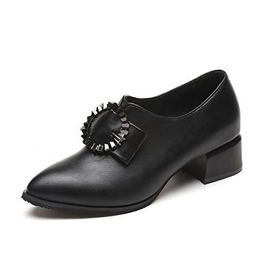Damen Schuhe PU Winter Komfort Loafers & Slip-Ons Runde Zehe Für Normal Schwarz Grün