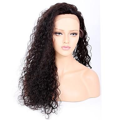 Włosy remy Koronkowy przód Peruka Włosy brazylijskie Kędzierzawy 130% 150% 180% Gęstość Peruka afroamerykańska Krótki Długo Średniej