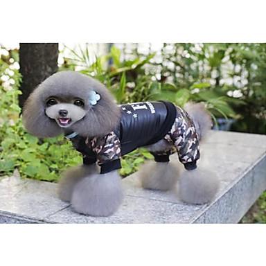 Kot Pies Płaszcze Kombinezon Święta Bożego Narodzenia Ubrania dla psów Litera i numer Black Bawełna Kostium Dla zwierząt domowych nowy
