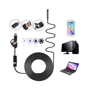 8mm obiektyw 3 w 1 usb camera endoskop inspekcja borescop wodoodporna ip67 wąż krzywka 6 led dla android pc 10 m hardwire