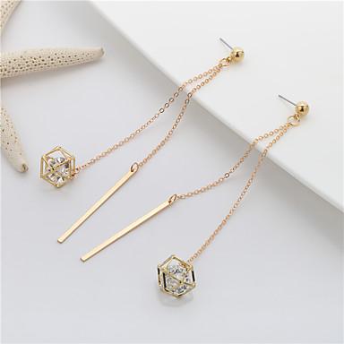 Damen Hot Fix Tropfen-Ohrringe Süß Elegant Kupfer Geometrische Form Schmuck Für Party
