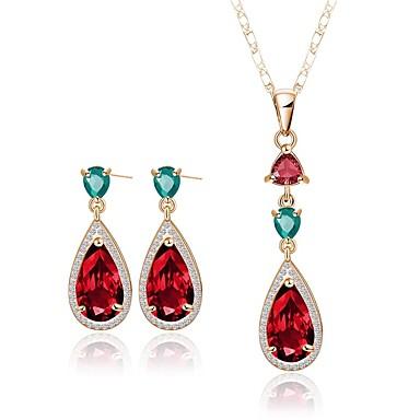 Damskie Biżuteria Ustaw Zestawy biżuterii, Bridal Jewelry Sets - Pozłacane Gold