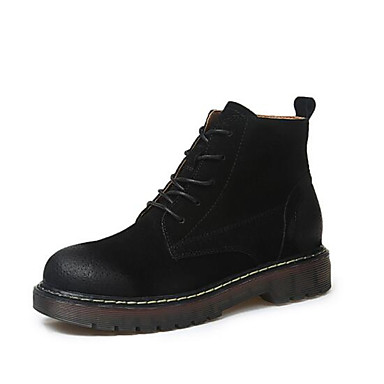 e5f360e7845b Femme Chaussures Cuir Hiver Automne Bottes à la Mode boîtes de Combat  Bottes Bottine Demi