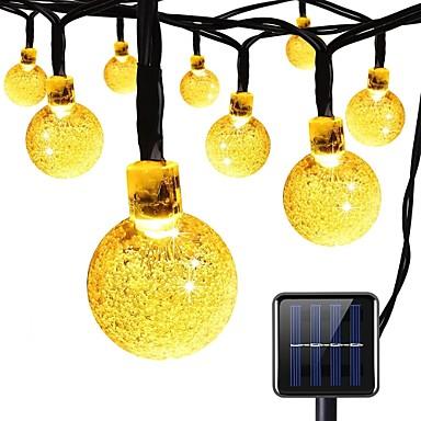 solar string lights 8 tryby 23ft 30leds kryształowej kuli string światła do ogrodu letnie przyjęcie party ciepły biały