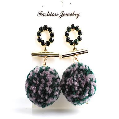 Damskie Rhinestone Kolczyki wiszące, Kolczyki koła - Imitacja diamentu, Złota Perła Black, Purple, Green / Kolorowy