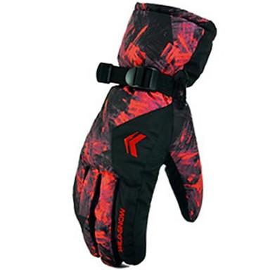 Rękawice narciarskie Rękawiczki zimowe Męskie Skóra Full Finger Wodoodporny Wiatroodporna Zdatny do noszenia Trwały Narciarstwo Poliester