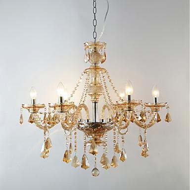 Żyrandole Światło rozproszone - Kryształ 3D Świeca Style, Tradycyjny / Classic, 110-120V 220-240V Nie zawiera żarówki