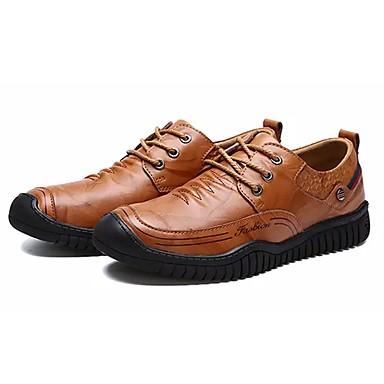 Męskie Buty Skórzany Nappa Leather Wiosna Jesień Comfort Oksfordki na Casual Black Brown Light Brown
