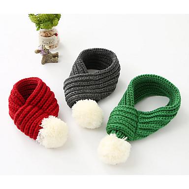 Pies Apaszka dla psa Ubrania dla psów W stylu brytyjskim Gray Czerwony Green Bawełna Kostium Dla zwierząt domowych Męskie Damskie