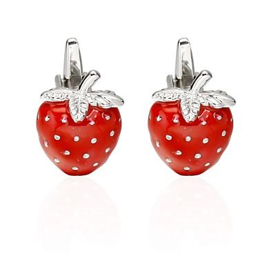 voordelige Herensieraden-Manchetknopen Hart Fruit Sieraden Romantisch Broche Sieraden Rood Voor mielitietty