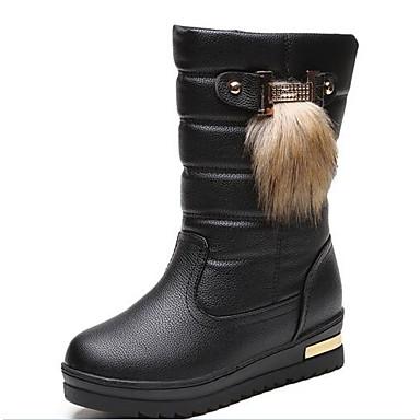 des des des chaussures bottes de caoutchouc / bottes de neige de l'hiver à mi - mollet similicuir bottes blanc / noir / Marron  d5ee0c