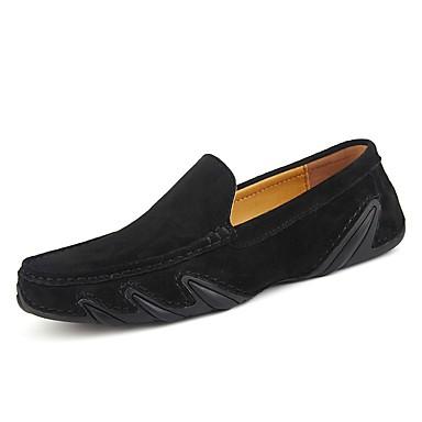 Herren Schuhe Schweineleder Frühling Herbst Mokassin Loafers & Slip-Ons Für Automotive Schwarz Grau Braun Khaki