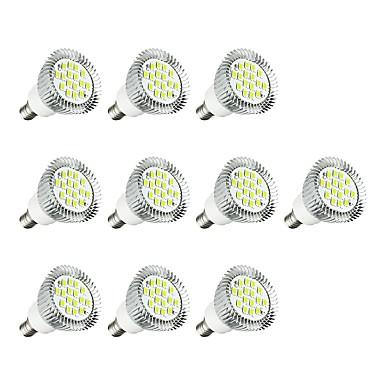 10pcs 5W 380lm E14 Żarówki punktowe LED E14 / E12 16 Koraliki LED SMD 5630 LED Light Biały 85-265V