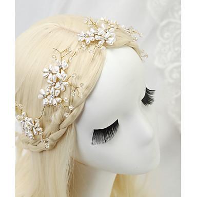 Kryształ Imitacja pereł Kryształ górski Opaski na głowę 1szt Ślub Specjalne okazje Winieta