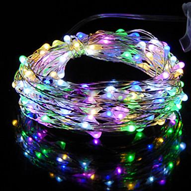 hkv® 2m 20led multicolor led string licht batterie led kupferdraht fee urlaub lichter weihnachten jäten partei dekoration