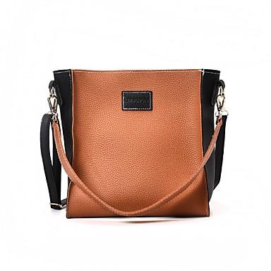 Damen Taschen PU Bag Set Reißverschluss Braun / Armeegrün / Khaki