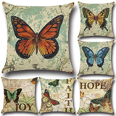 6 szt Cotton / Linen Poszewka na poduszkę Pokrywa Pillow Euro Tradycyjny / Classic Retro