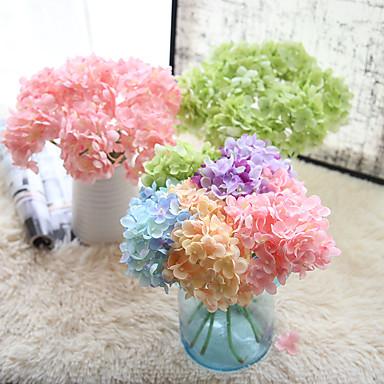 10 Gałąź Others Majątek dotykowy Hortensje Bukiety na stół Sztuczne Kwiaty