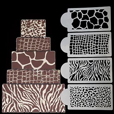 Narzędzia do pieczenia Tworzywa sztuczne Narzędzie do pieczenia Do użytku codziennego Prostokątny Formy Ciasta 1kpl