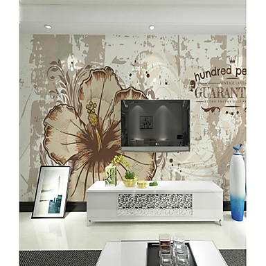 Kwiaty Art Deco 3D Dekoracja domowa Współczesny קלאסי Rustykalny Tapetowanie, Brezentowy Materiał klej wymagane Fresk, Pokój tapet