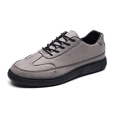 Herren Schuhe Kunstleder Alle Jahreszeiten Komfort Loafers & Slip-Ons Kombination Für Normal Schwarz Grau Kaffee