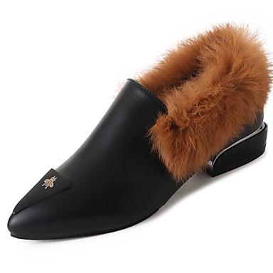 Damskie Obuwie Guma Zima Comfort Mokasyny i pantofle Pointed Toe na Na wolnym powietrzu Black Gray Yellow