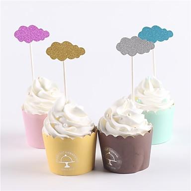 Figurki na tort Klasyczny styl Baby Shower Tamtejsze Theme Urodziny Rodzina New Baby Papierowy Impreza Urodziny z 12 OPP