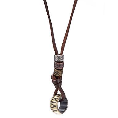Męskie Naszyjniki z wisiorkami - Skórzany Vintage Bronze Naszyjniki Na Codzienny, Casual