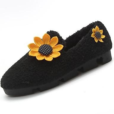 Damskie Obuwie Guma Zima Comfort Mokasyny i pantofle Okrągły Toe Black