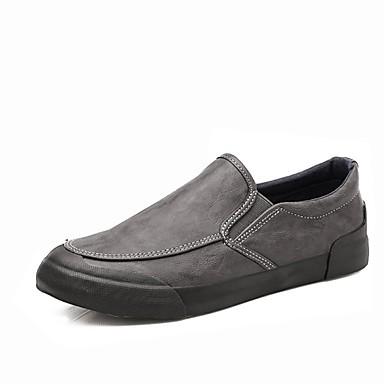 Męskie Buty PU Wiosna Jesień Mokasyny Comfort Mokasyny i pantofle na Casual Black Gray Brown