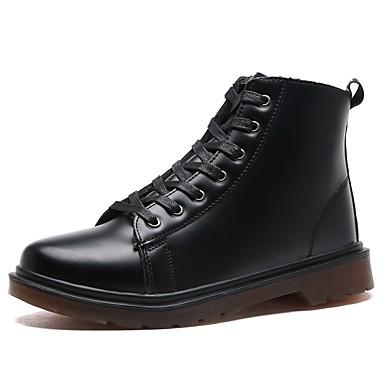 Męskie Buty Syntetyczny Microfiber PU PU Derma Jesień Zima Modne obuwie Comfort Buciki na Casual Black