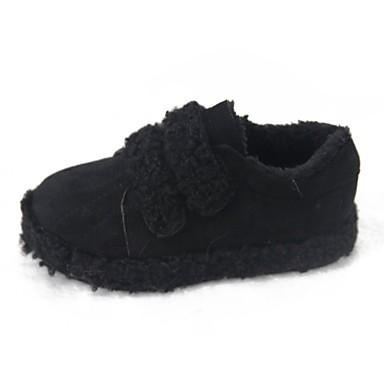 Damen Schuhe PU Winter Komfort Loafers & Slip-Ons Runde Zehe Klettverschluss für Normal Schwarz Khaki