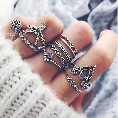 Χαμηλού Κόστους Ring Set-Γυναικεία Δαχτυλίδι για τη μέση των δαχτύλων / Pinky Ring 10pcs Ασημί Κράμα κυρίες / Ασιατικό / Βίντατζ Πάρτι / Καθημερινά Κοστούμια Κοσμήματα