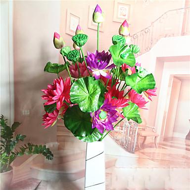Sztuczne Kwiaty 1 Gałąź Pasterski Styl Lotos Bukiety na stół
