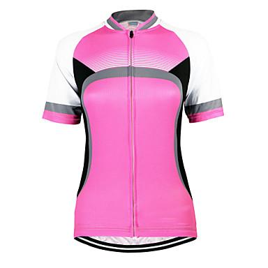 Arsuxeo Koszulka rowerowa Damskie Z krótkim rękawem Rower Koszulka Topy Quick Dry Anatomiczny kształt Przód Zipper Oddychający100%