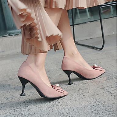 Chaussures Talon Personnalisées Matières haut Nouveauté 06425630 Femme Printemps Noir à rond Chaussures Automne Talons synthétique Laine Bout UcFRq