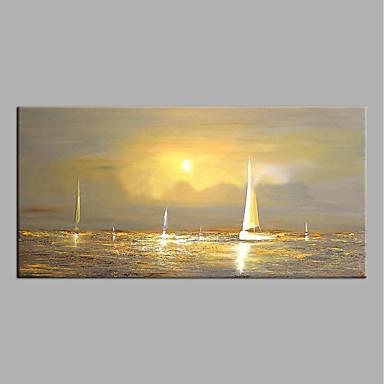 Hang-Malowane obraz olejny Ręcznie malowane - Streszczenie Nowoczesny Brezentowy
