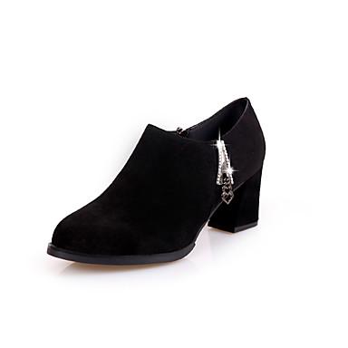 Mulheres Sapatos Borracha Verão Conforto Sandálias Caminhada Salto de bloco Presilha para Ao ar livre Preto
