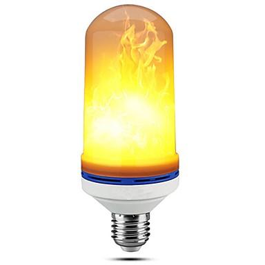 billige Elpærer-1pc 5 W LED-kornpærer 150 lm E27 99 LED perler SMD 2835 Mulighet for demping Dekorativ Flamme Flimrende Varm hvit 85-265 V / RoHs