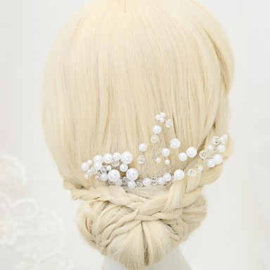 Imitacja pereł Grzebienie do włosów 1szt Ślub Specjalne okazje Winieta