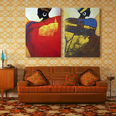 Nadruk na płótnie Nowoczesny, Dwa panele Brezentowy Pionowy Wydrukować wall Decor Dekoracja domowa