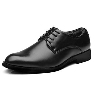 Męskie Komfortowe buty PU Zima Oksfordki Czarny / Impreza / bankiet
