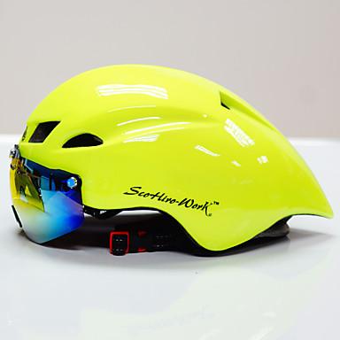 Scohiro-Work بالغين خوذة دراجة مع نظارات واقية خوذة هوائية 10 المخارج CE Impact Resistant , خفيفة الوزن, قياس قابل للتعديل EPS, الكمبيوتر الشخصي رياضات دراجة الطريق / دراجة الترفيه / دراجة جبلية -
