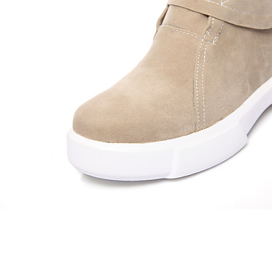 synthétique Bottes Nubuck Cuir Chaussures Talon rond Plat 06425705 Femme Bottine la à Mode Demi Automne Bottes Hiver Laine Bout Botillons 0g4Iqx