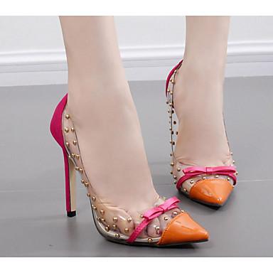 povoljno Ženske cipele-Žene Cipele na petu Stiletto potpetica PU Udobne cipele Proljeće / Jesen Crn / žuta / Plava / EU40